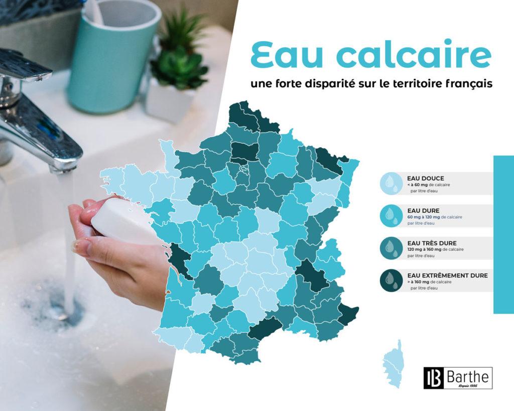 Carte de France Eau Calcaire